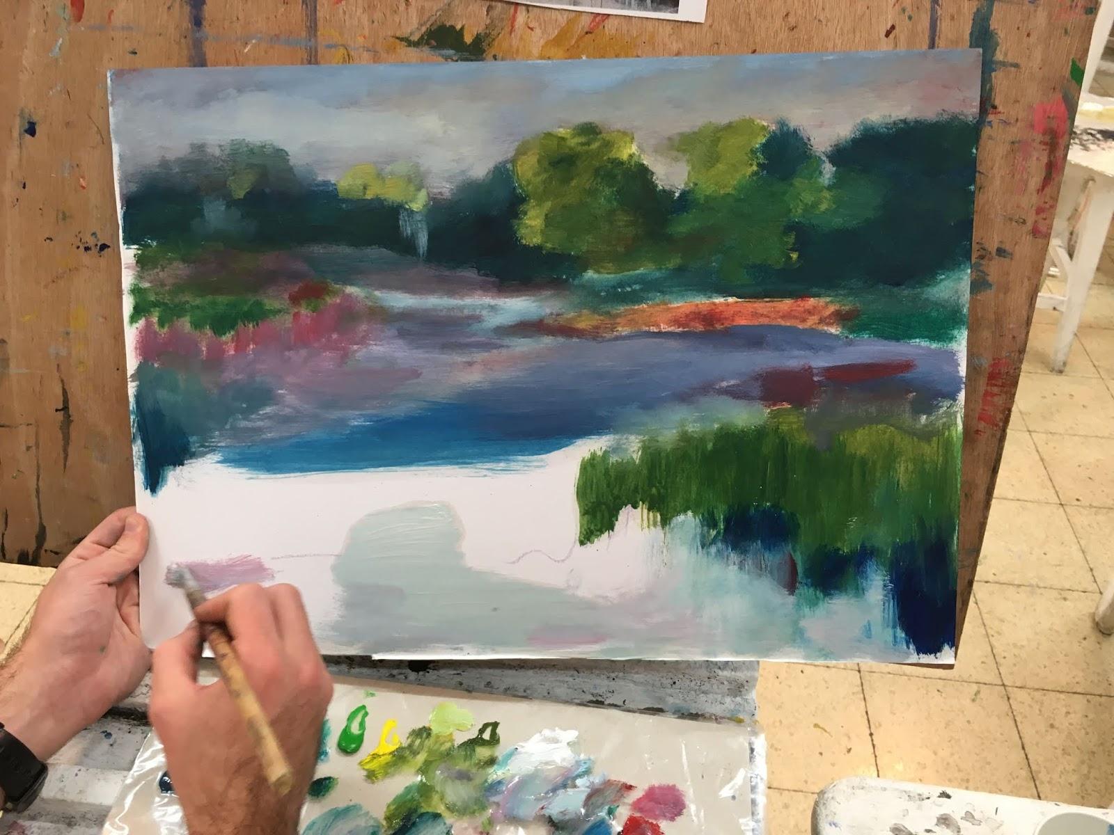 'לחשוף את השכבות'- השפה הציורית ותהליך העבודה של הצייר